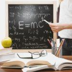 Krijtbord met formule